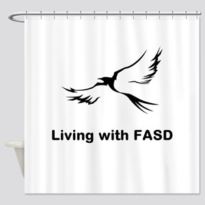 LIVING with FASD Shower Curtain