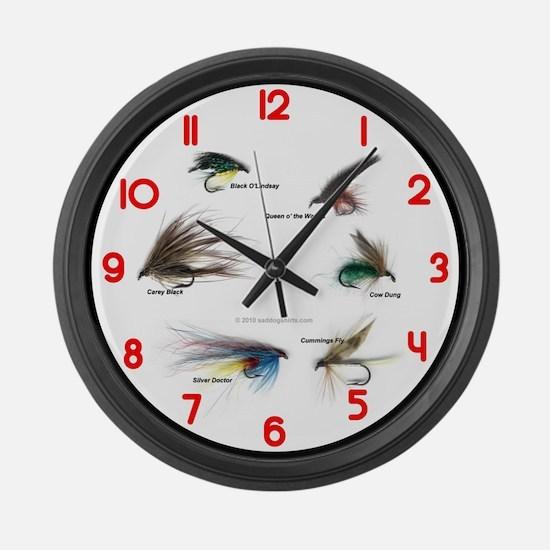 Fishing Time (clocks) Large Wall Clock