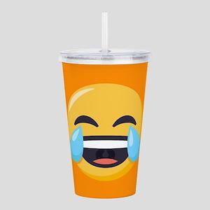 Crying Laughing Emoji Acrylic Double-wall Tumbler