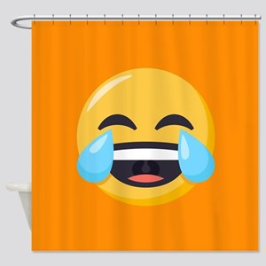 Crying Laughing Emoji Shower Curtain