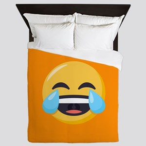 Crying Laughing Emoji Queen Duvet