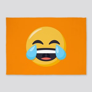 Crying Laughing Emoji 5'x7'Area Rug