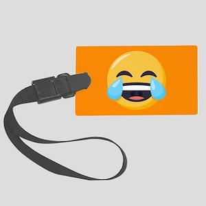 Crying Laughing Emoji Large Luggage Tag