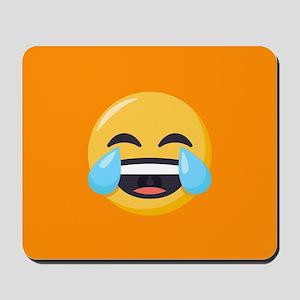 Crying Laughing Emoji Mousepad