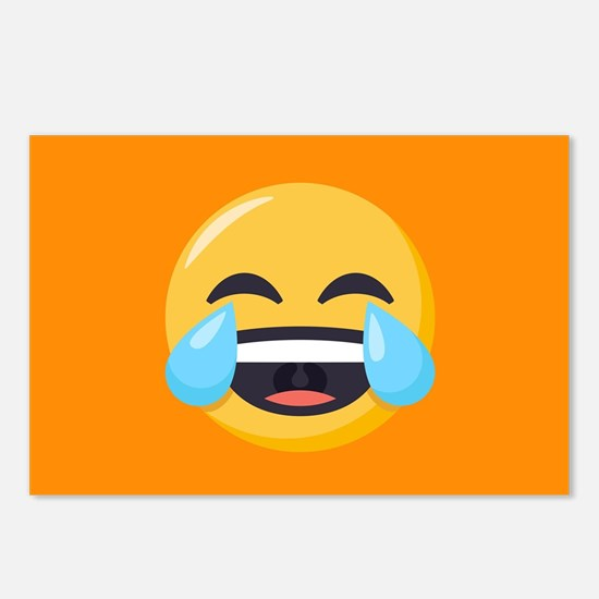 Crying Laughing Emoji Postcards (Package of 8)