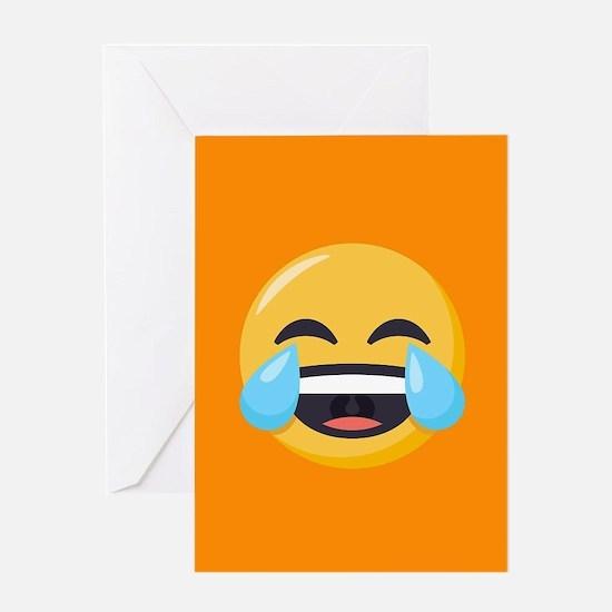 Crying Laughing Emoji Greeting Card