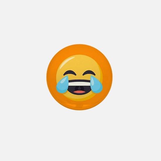 Crying Laughing Emoji Mini Button