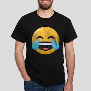 Crying Laughing Emoji Dark T-Shirt