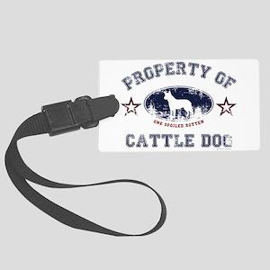 Cattle Dog Large Luggage Tag