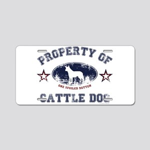 Cattle Dog Aluminum License Plate
