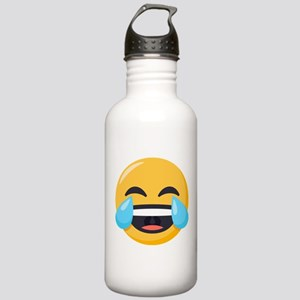 Crying Laughing Emoji Stainless Water Bottle 1.0L