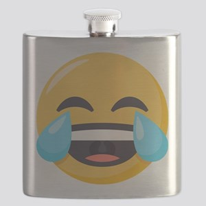 Crying Laughing Emoji Flask