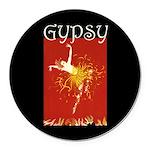 Gypsy Round Car Magnet