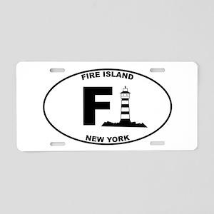 Fire Island Lighthouse Aluminum License Plate