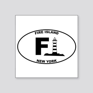 "Fire Island Lighthouse Square Sticker 3"" x 3"""