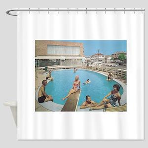 Eden Roc Motel 1950's Pool in Wildw Shower Curtain