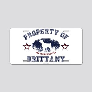 Brittany Aluminum License Plate