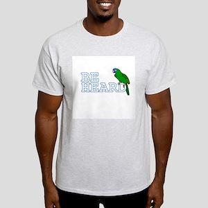 Be Heard - Blue Crown Conure TShirt (Light)