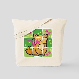 Puppy & Bows Puzzle Pet Tote Bag