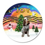 XMusic2-Spinone (roan) Round Car Magnet