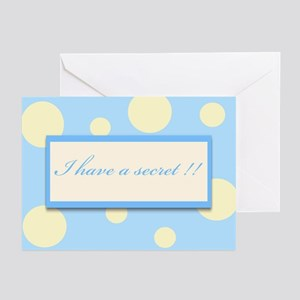 I have a secret -blue Greeting Cards (Pk of 10