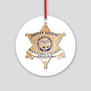 Maricopa County Sheriff Ornament (Round)