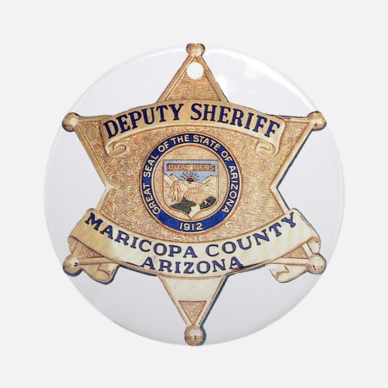 Maricopa County Sheriff Ornament (Round)