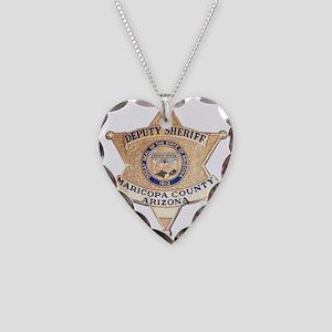 Maricopa County Sheriff Necklace Heart Charm