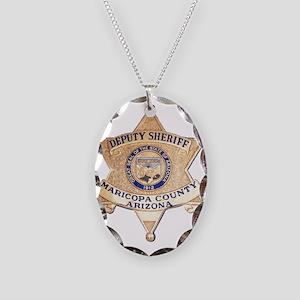 Maricopa County Sheriff Necklace Oval Charm