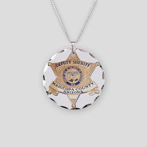 Maricopa County Sheriff Necklace Circle Charm