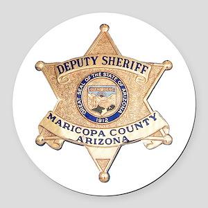 Maricopa County Sheriff Round Car Magnet