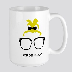 Nerds Rule! Girls Large Mug