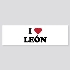 I Love Leon Sticker (Bumper)