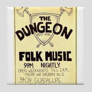 Vintage Austin Music Ad Tile Coaster