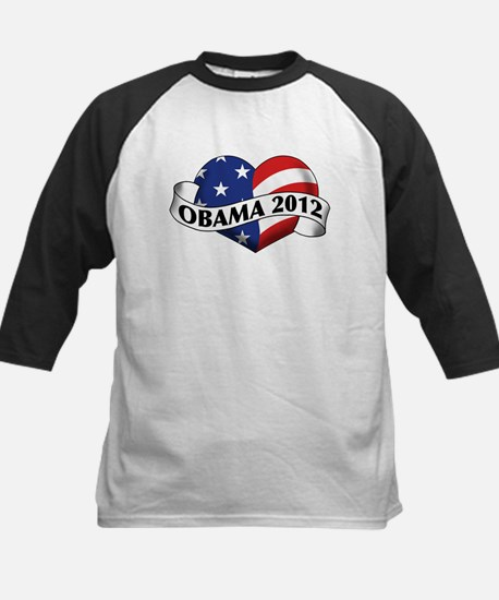 Obama 2012 Stars and Stripes Heart Banner Tee
