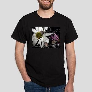 Terrapins & Flowers Black T-Shirt