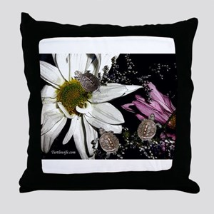 Terrapins & Flowers Throw Pillow
