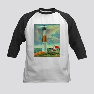 Montauk Point Lighthouse Kids Baseball Jersey