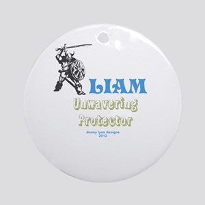 Your Name Liam Ornament (Round)