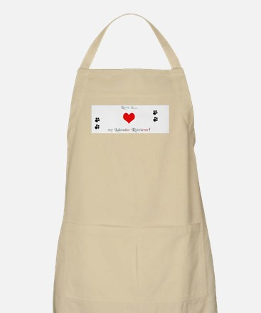 Lab love BBQ Apron