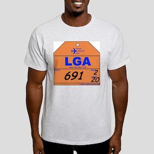 LGA New York Laguardia Ash Grey T-Shirt