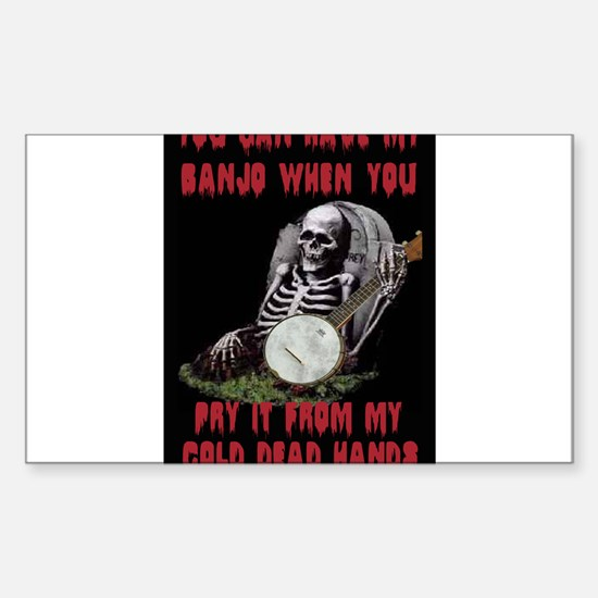 Banjo to the Grave Sticker (Rectangle)