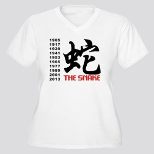 Years of The Snake Women's Plus Size V-Neck T-Shir