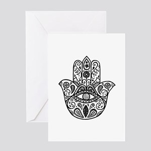 The hamsa hand Greeting Cards