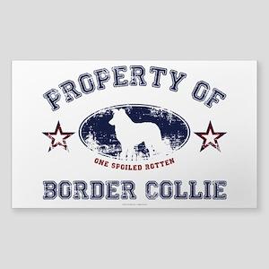 Border Collie Sticker (Rectangle)