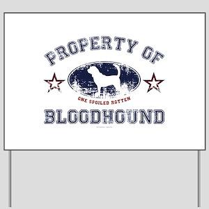 Bloodhound Yard Sign