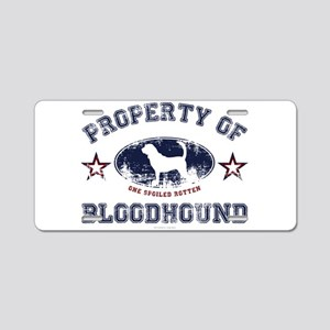 Bloodhound Aluminum License Plate