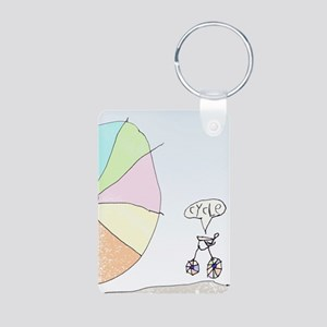Cycle! Aluminum Photo Keychain