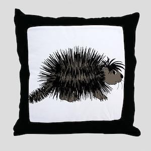 Cartoon Porcupine Graphic Throw Pillow