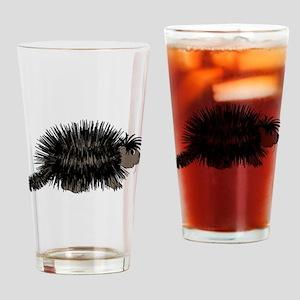 Cartoon Porcupine Graphic Drinking Glass